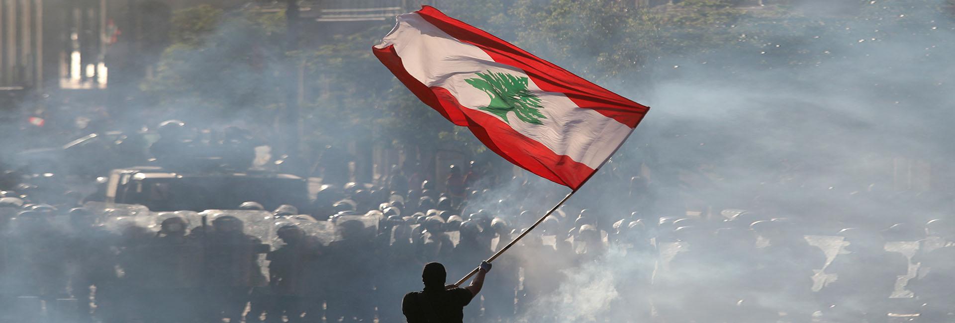 Las protestas en Beirut, El Líbano, en agosto de 2020. REUTERS/Goran Tomasevic