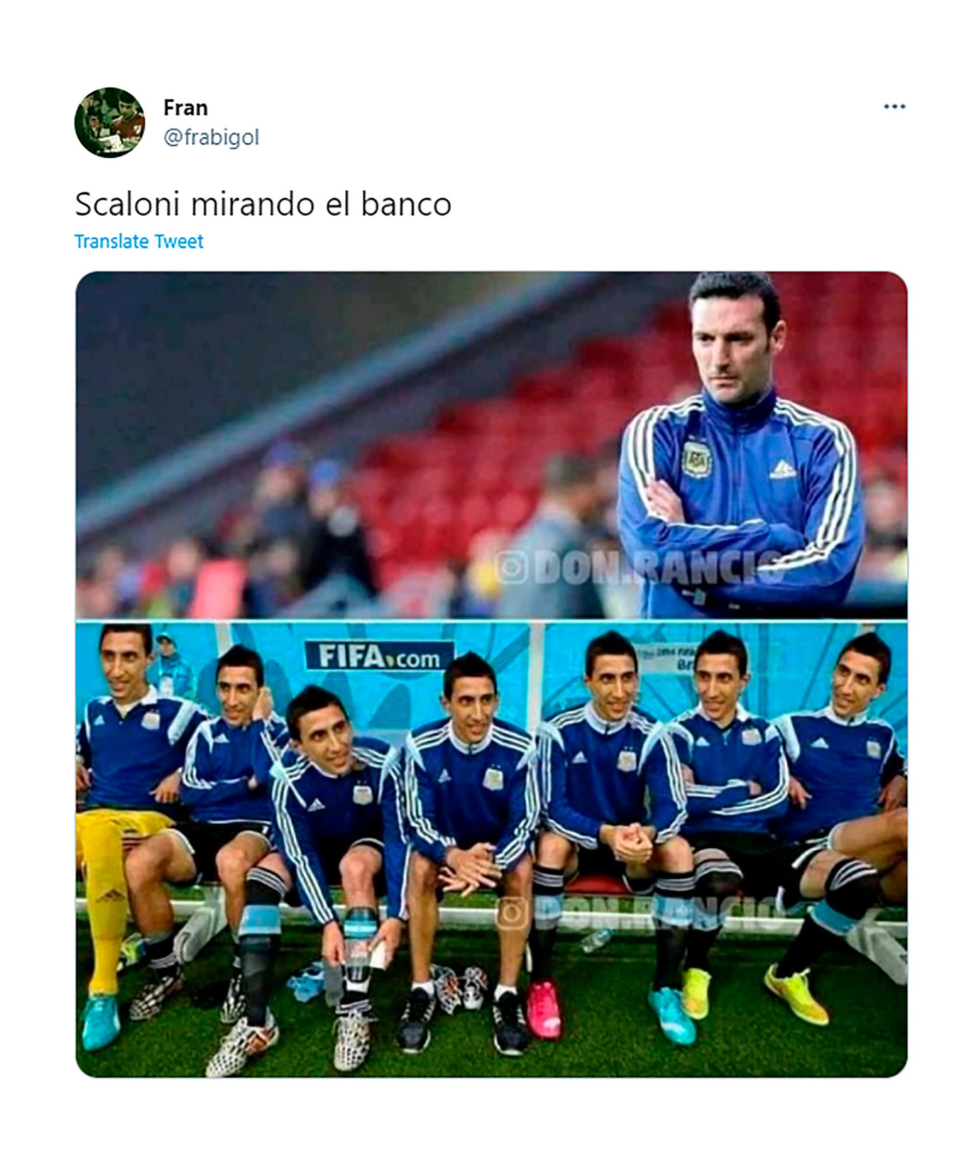 Con críticas a los cambios de Scaloni y a la defensa, los mejores memes del  empate de Argentina ante Chile en la Copa América - Infobae