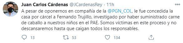 Alcalde de Bucaramanga, Juan Carlos Cárdenas. Twitter: @JCardenasRey