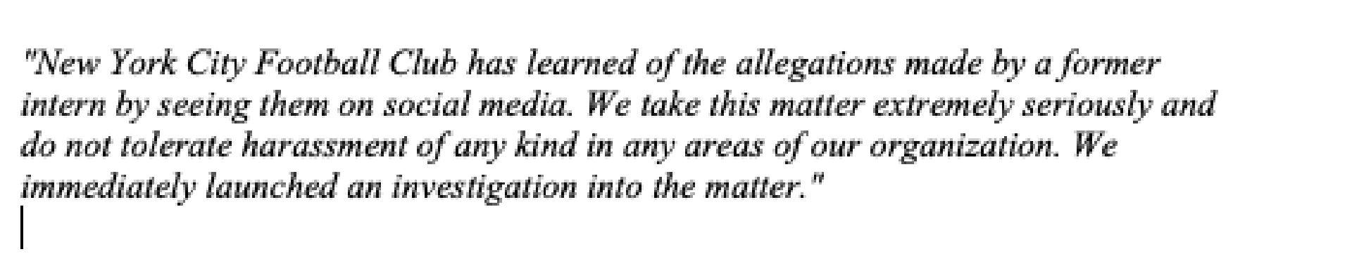 El comunicado que publicó el New York City FC por el supuesto caso de abuso que involucra a David Villa