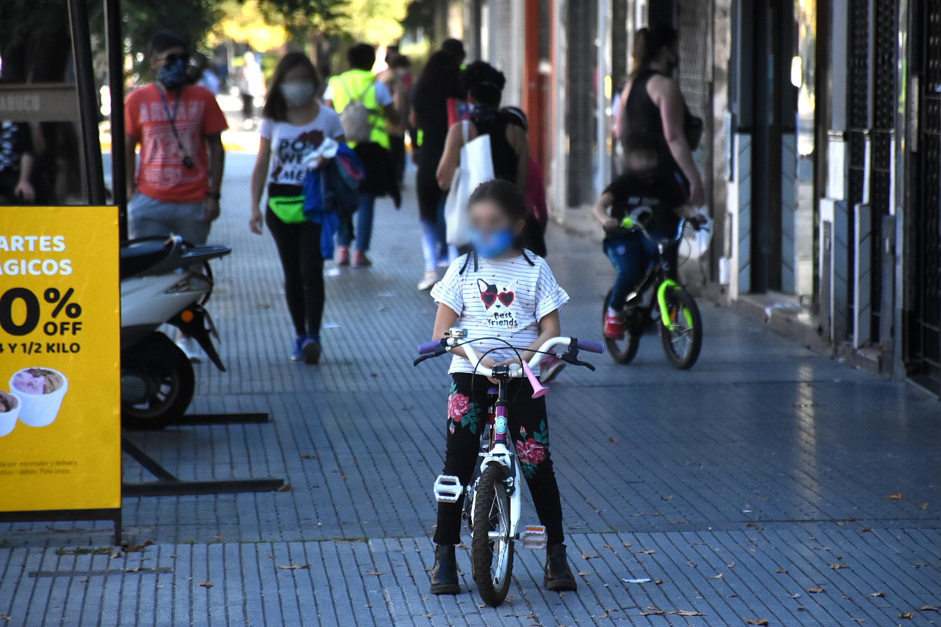 Muchos también utilizaron bicicletas para recrearse