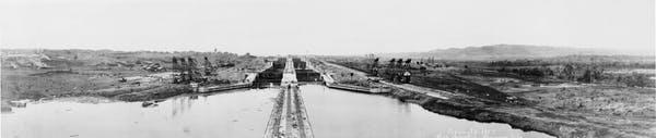 Obras de construcción del Canal de Panamá en 1913. Wikimedia Commons / Thomas Marine