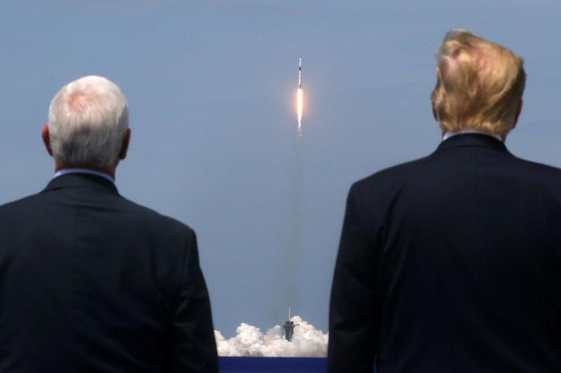 El presidente de Estados Unidos, Donald Trump, y el vicepresidente, Mike Pence