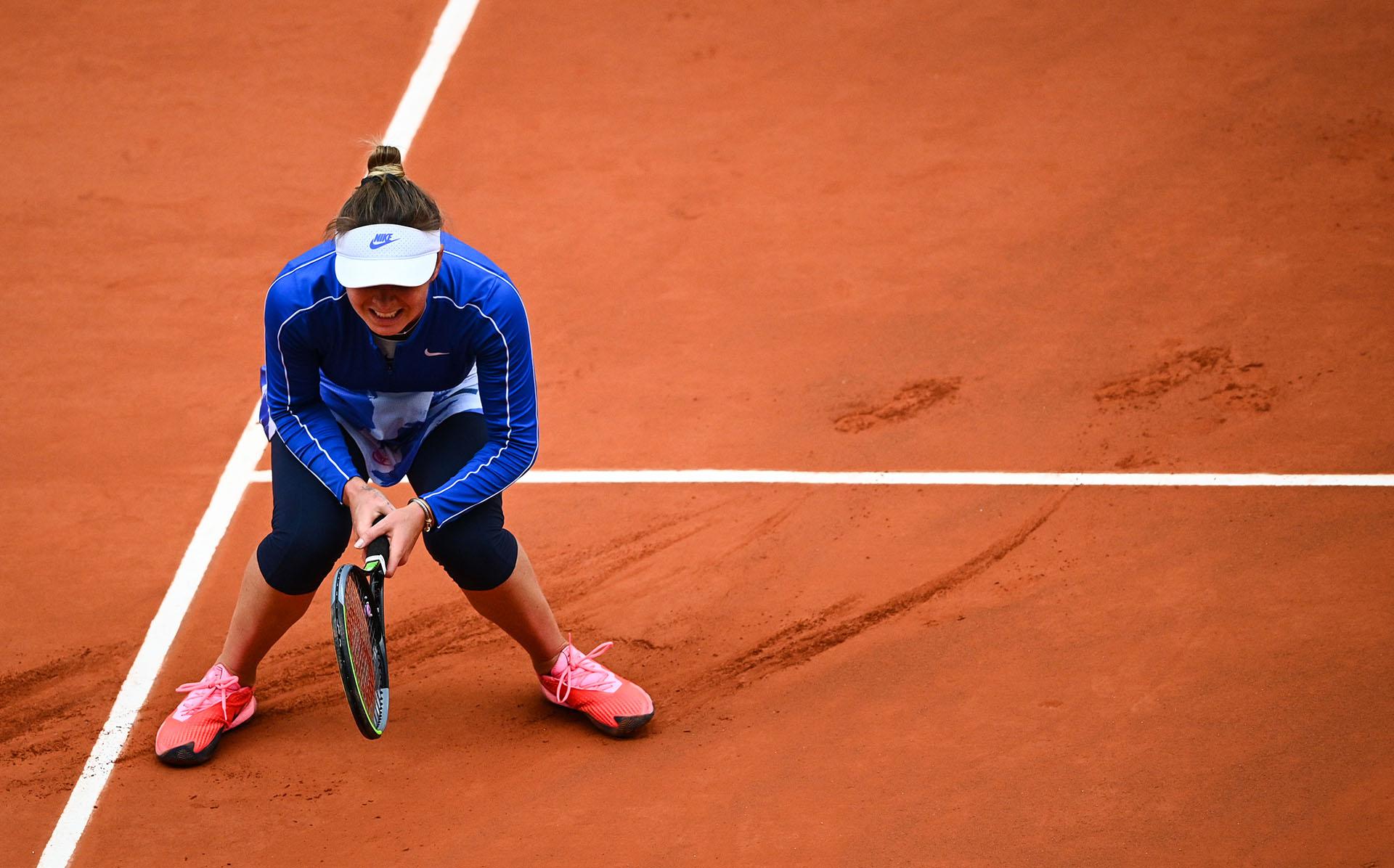 Elina Svitolina no pudo alcanzar las semifinales (Photo by Anne-Christine POUJOULAT / AFP)