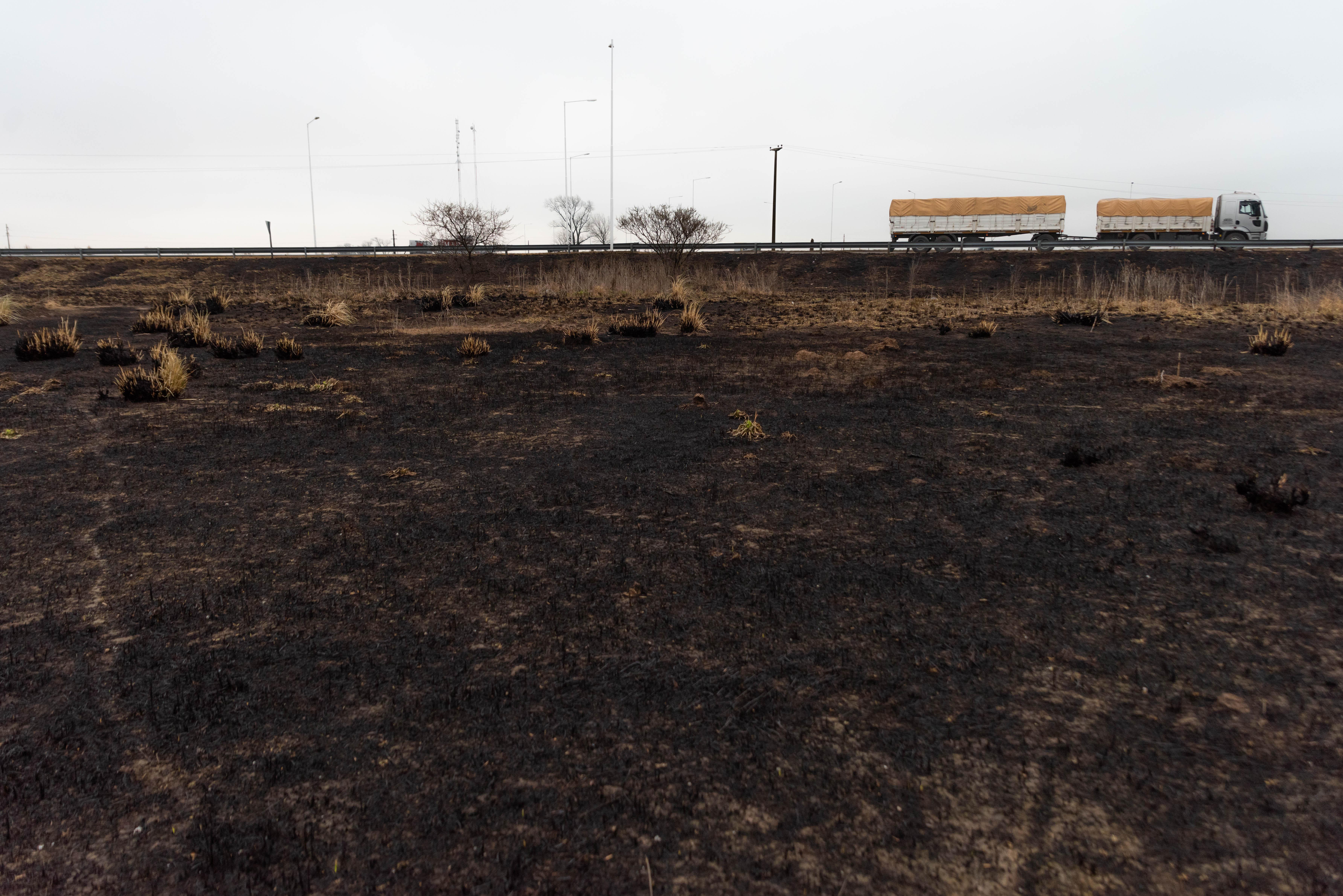 El humo se originó por la quema de pastizales que realizan varios productores agropecuarios, lo que provocó que ecologistas de Entre Ríos y Santa Fe denunciaran la quema intencional de pastizales