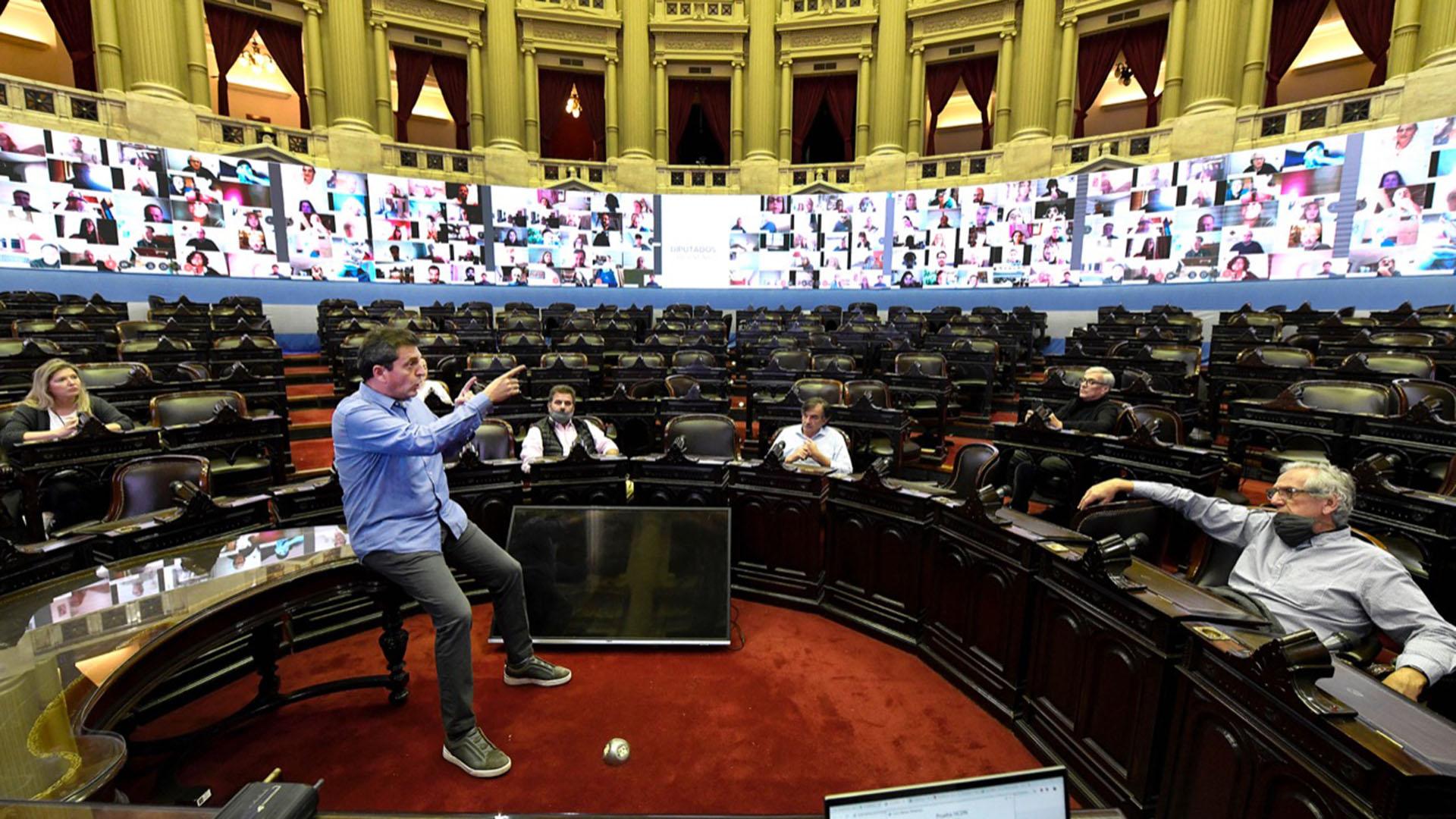 El Congreso virtual. Otro argumento para la grieta.