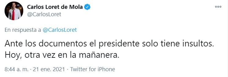 (Foto: Twitter/Carlos Loret)