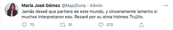 Trino de condolencias, María José Gómez.