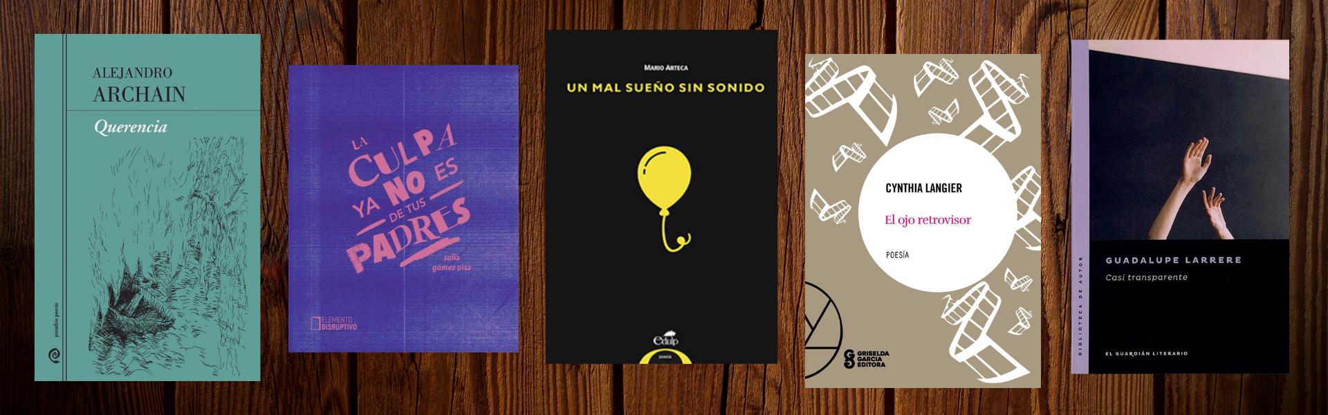 Los últimos libros de los cinco poetas entrevistados