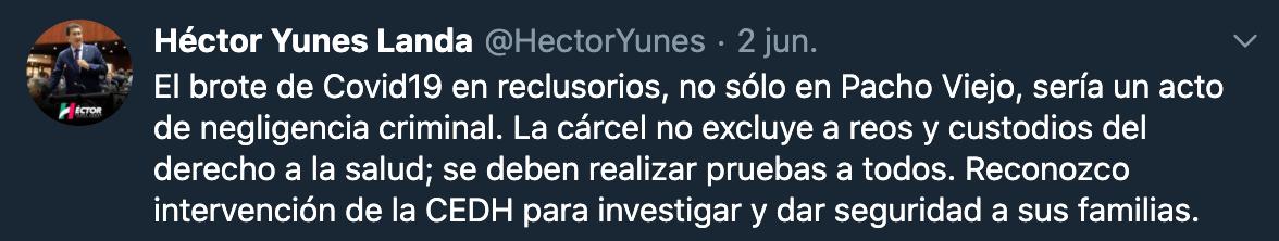 Héctor Yunes Landa Foto: Twitter / @HectorYunes
