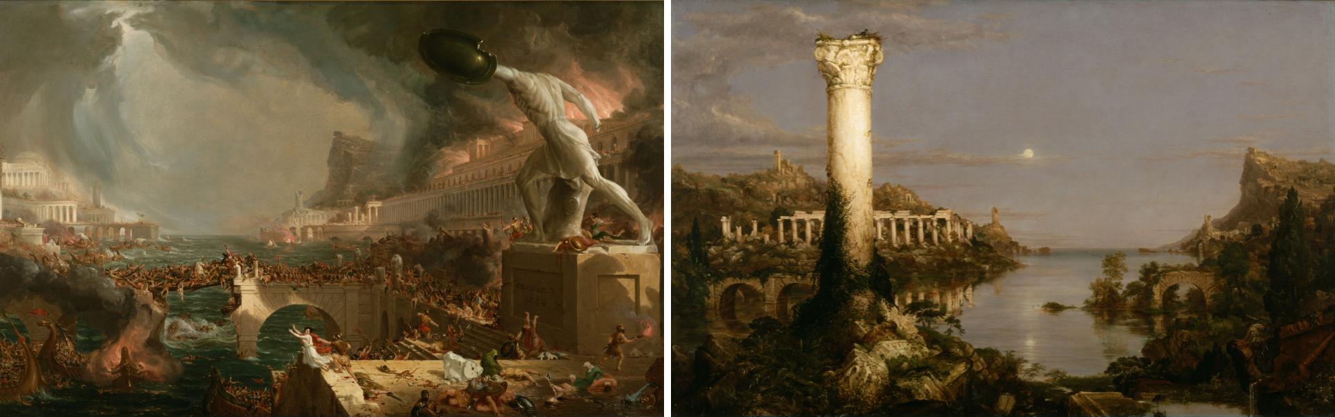 """""""Destrucción"""" y """"Desolación"""" de Thomas Cole"""