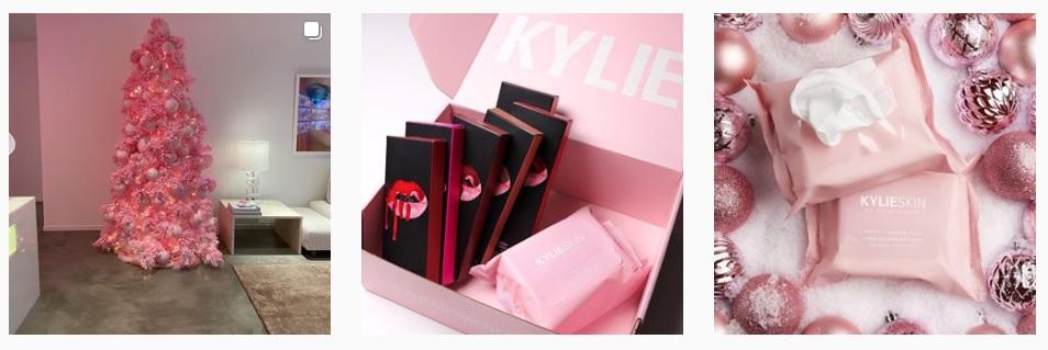Los cosmeticos de Kylie Jenner que una vez ella compartió en su cuenta de Instagram