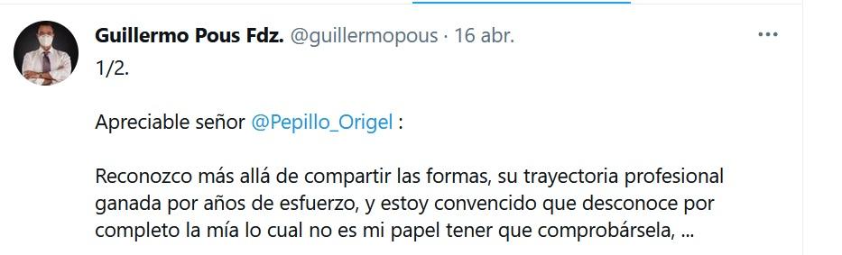El abogado Guillermo Pous contestó ante las declaraciones de Pepillo Origel (Foto: Captura de pantalla Twitter / @guillermopous)