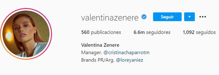 Valentina Zenere (Foto: Instagram)