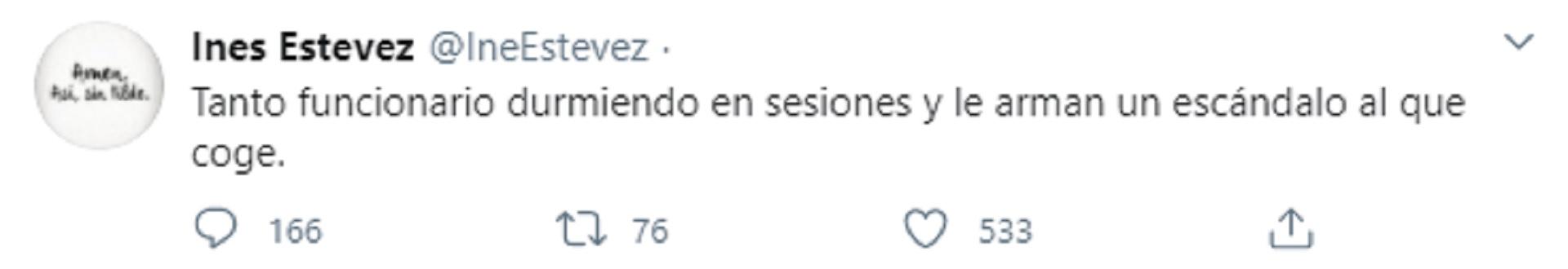 El tuit de Inés Estevez