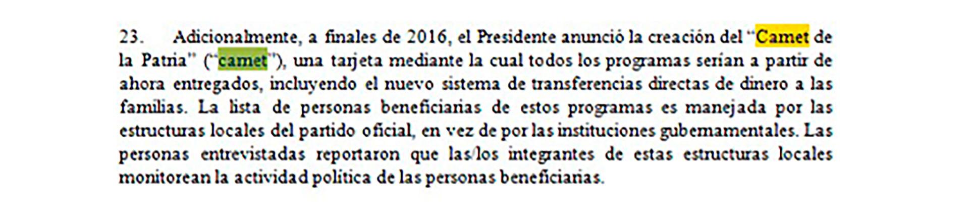 Un extracto del informe de Michelle Bachelet
