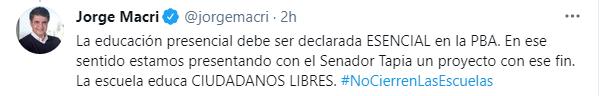 """El Intendente de Vicente López también requirió un apoyo económico """"para todos esos comerciantes y gastronómicos que bajarán sus persianas"""""""