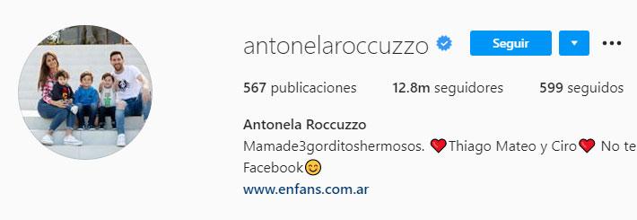 Antonela Roccuzzo (Foto: Instagram)