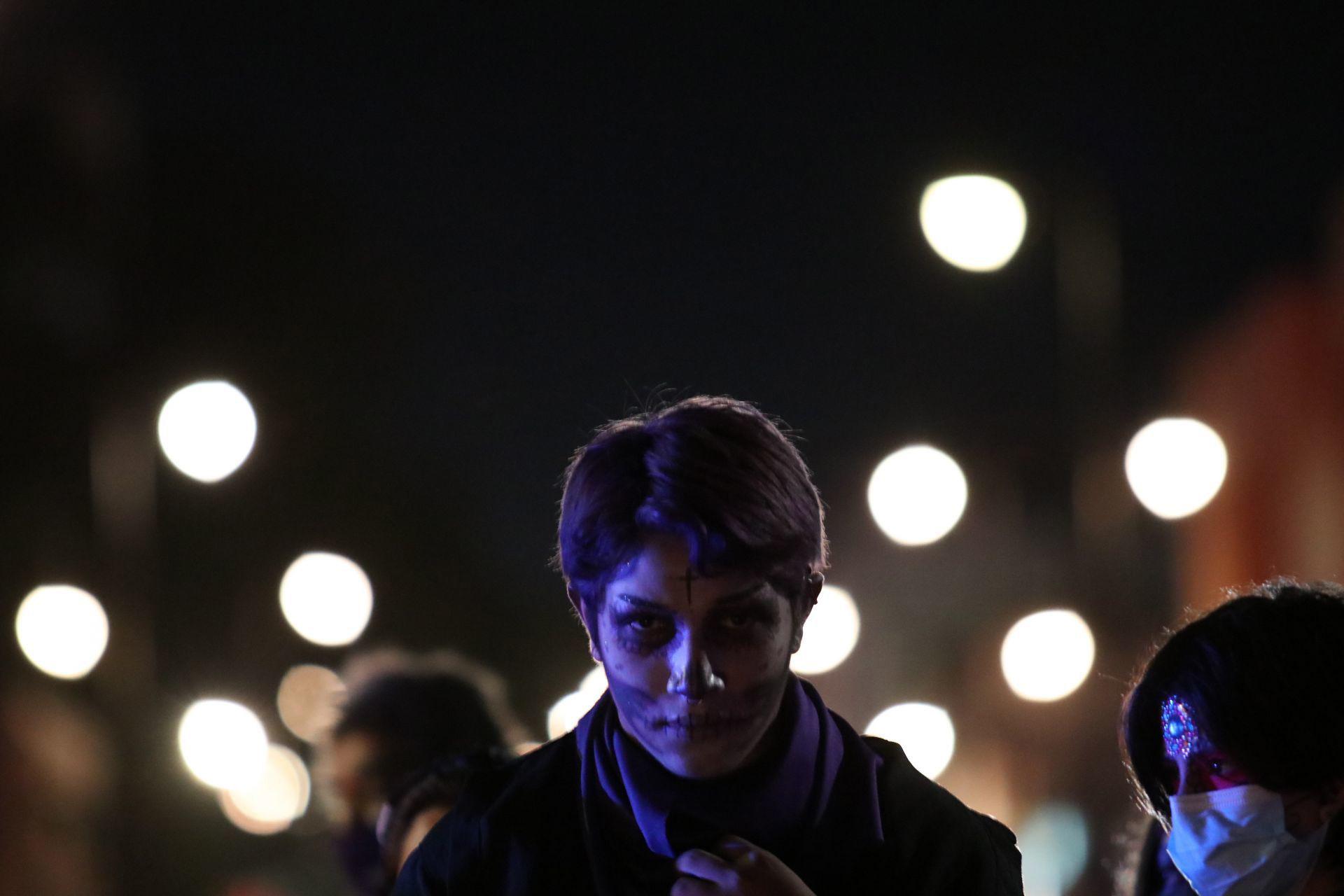 Saltillo, Coahuila, México. 1 de Noviembre de 2020. Marcha Feminicidio.
