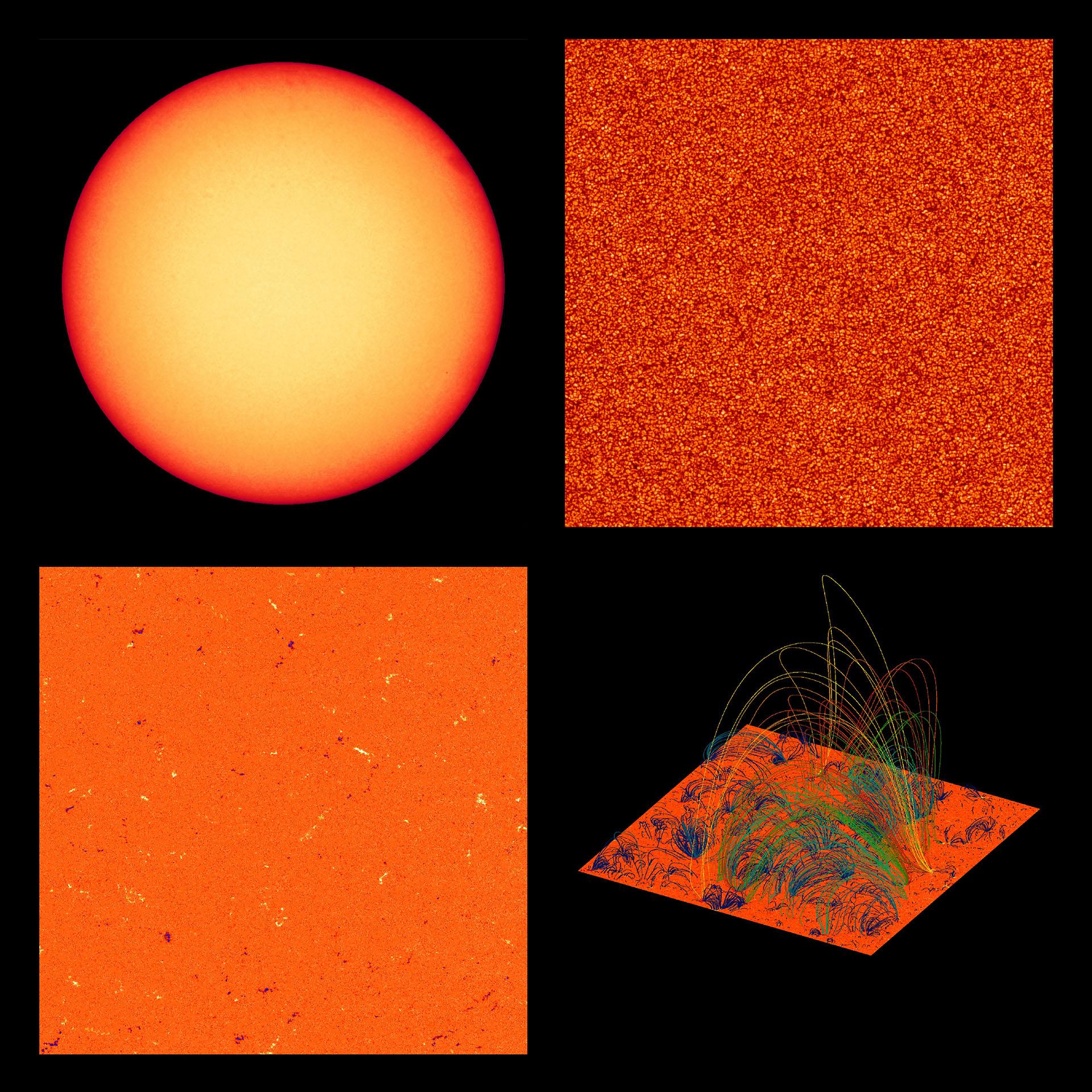 Mediciones del campo magnético cerca de la superficie del Sol que permiten la investigación del interior del Sol a través de la técnica de heliosismología tomada por el Polarimetric and Helioseismic Imager (PHI) a bordo de la nave espacial Solar Orbiter del 30 de mayo al 18 de junio de 2020 (Foto de - / Solar Orbiter / EUI / ESA / NASA / AFP)