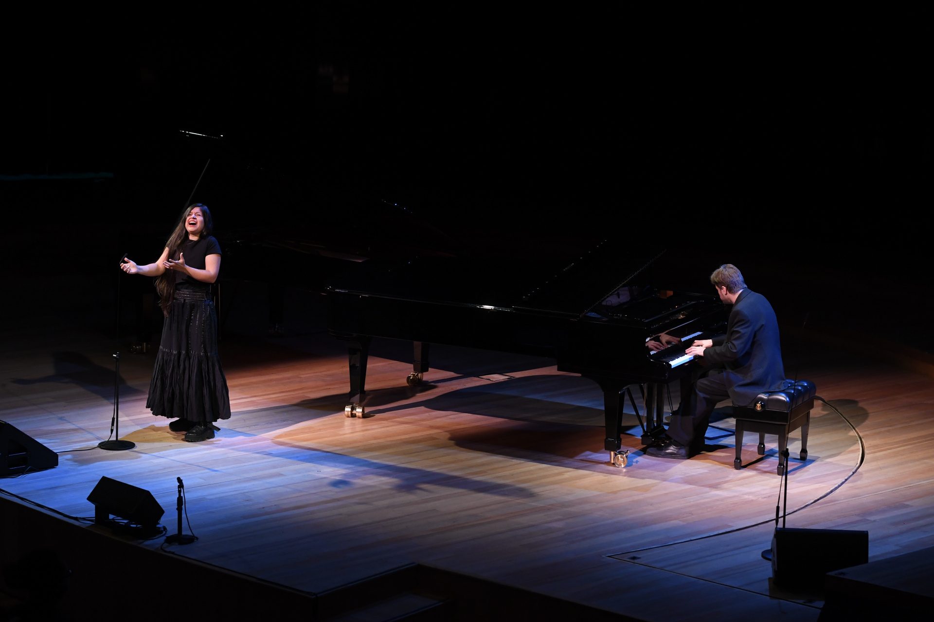 Durante la tarde, también actuaron la cantante Nadia Larcher y el pianista Andrés Beeuwsaert (Maximiliano Luna)