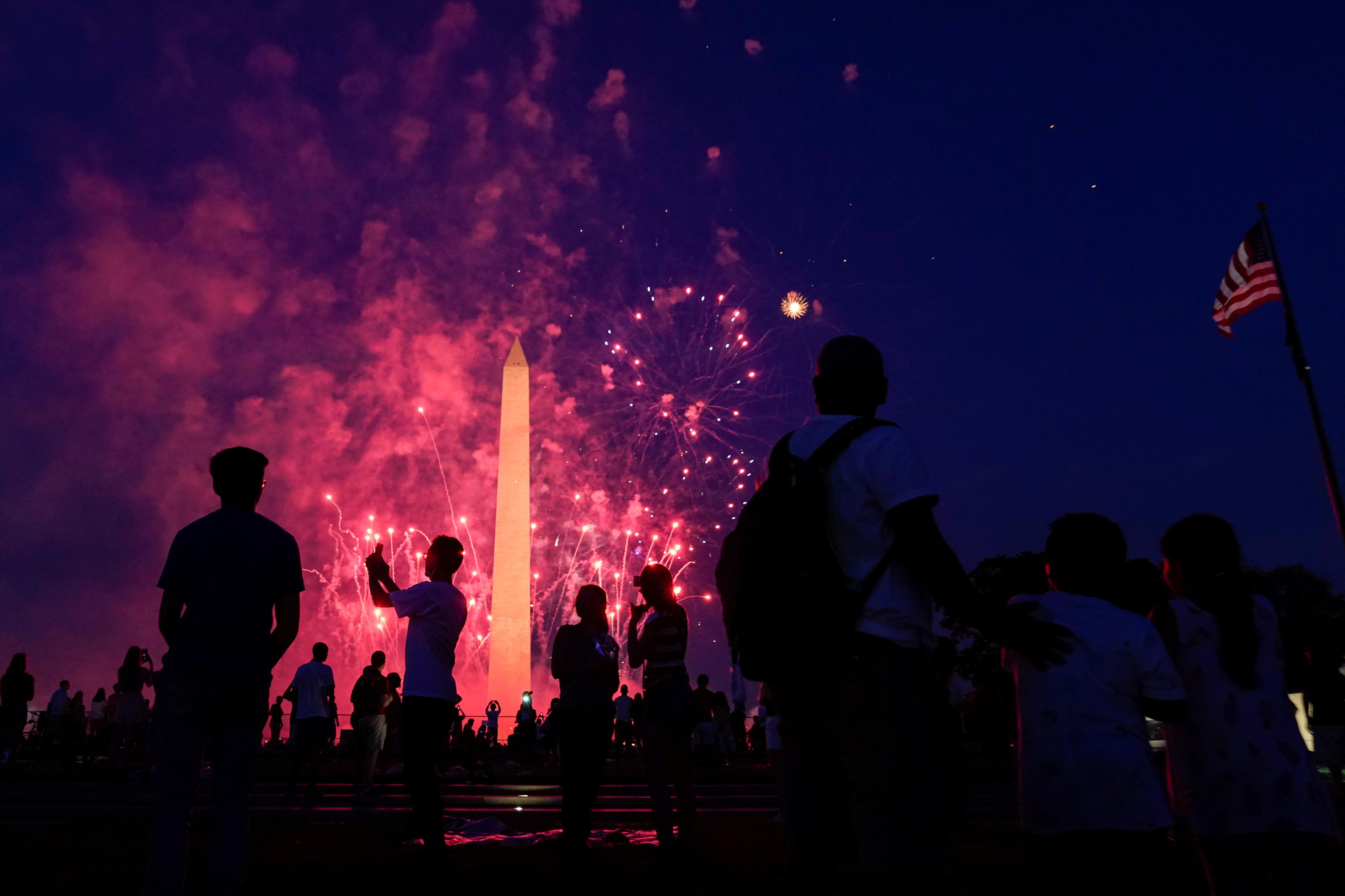 Fuegos artificiales en Washington DC