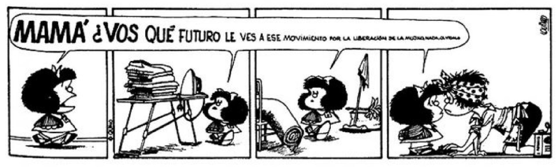 Mafalda, su principal obra. A través del humor fue un pionero en incluir temas como la desigualdad de género y el lugar de la mujer en sociedades patriarcales.