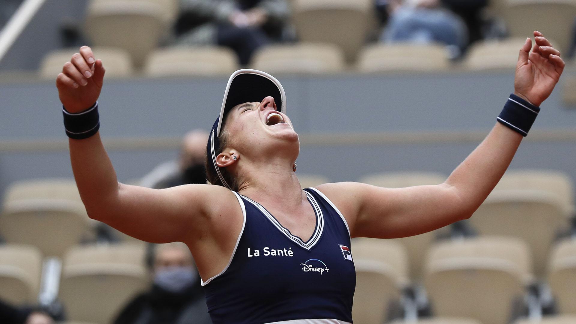 Podoroska ganó en dos sets ante Svitolina (AP Photo/Alessandra Tarantino)