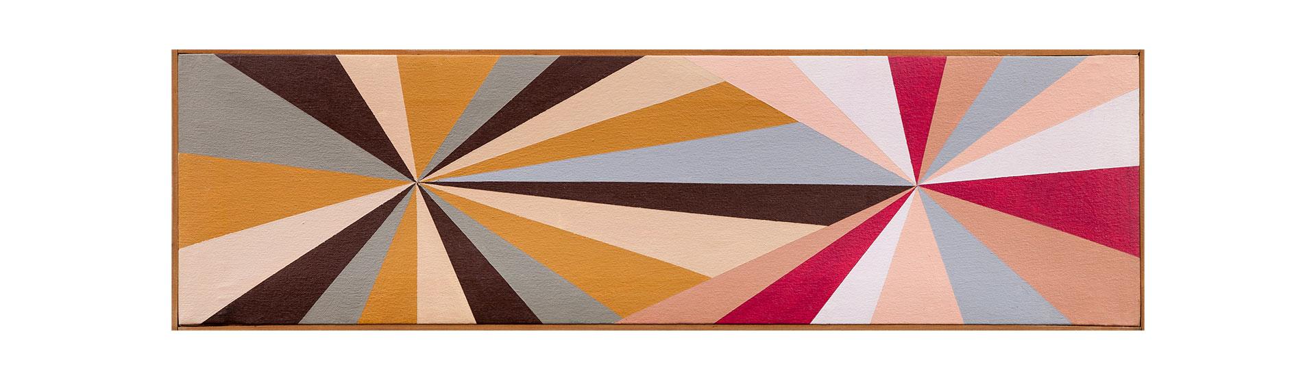 Laguna, Fernanda. Rayos 5 (1995) Acrílico S_ Tela 21 X73 cm