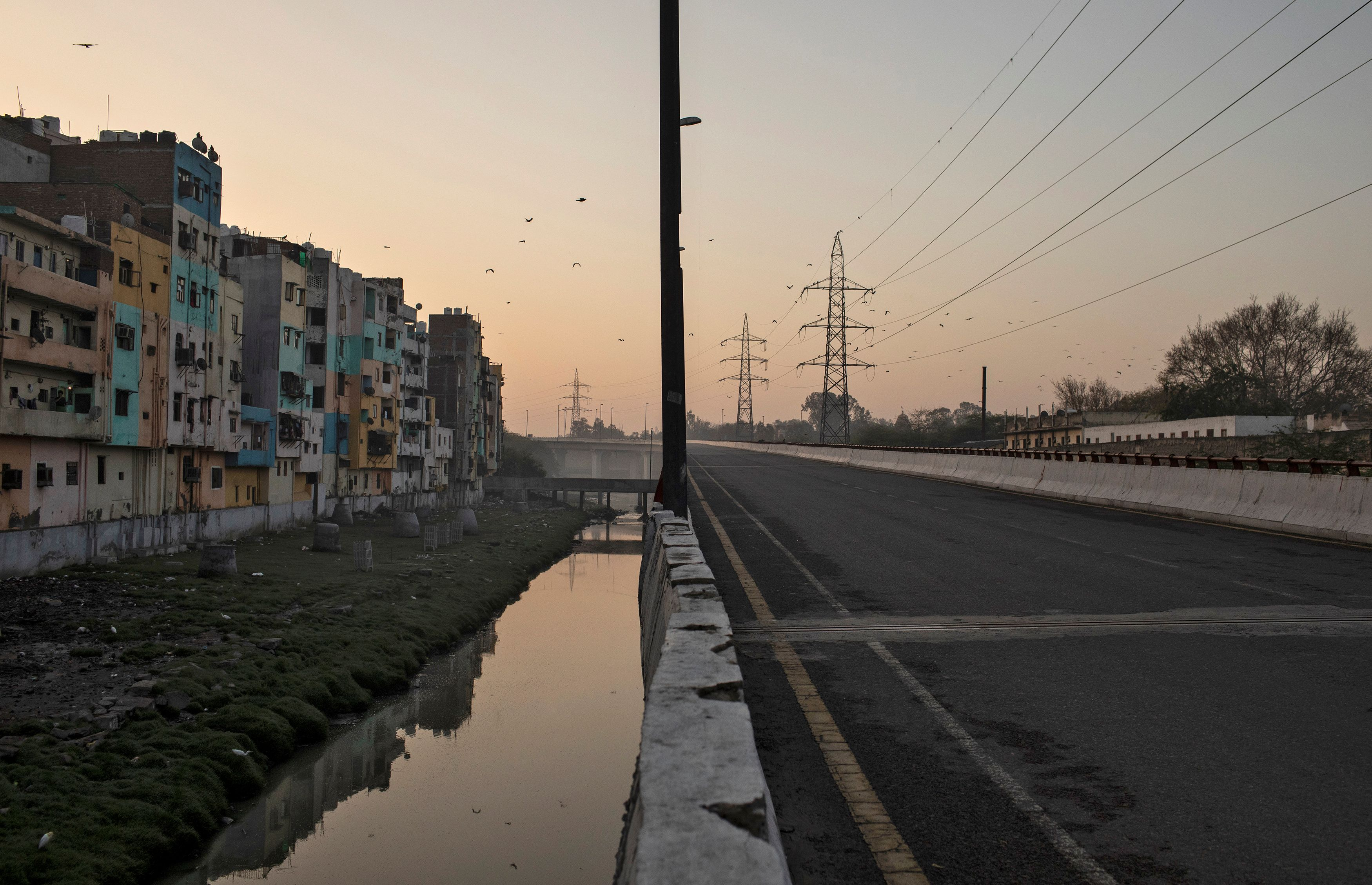 Una zona residencial próxima a New Delhi, India (REUTERS/Danish Siddiqui)