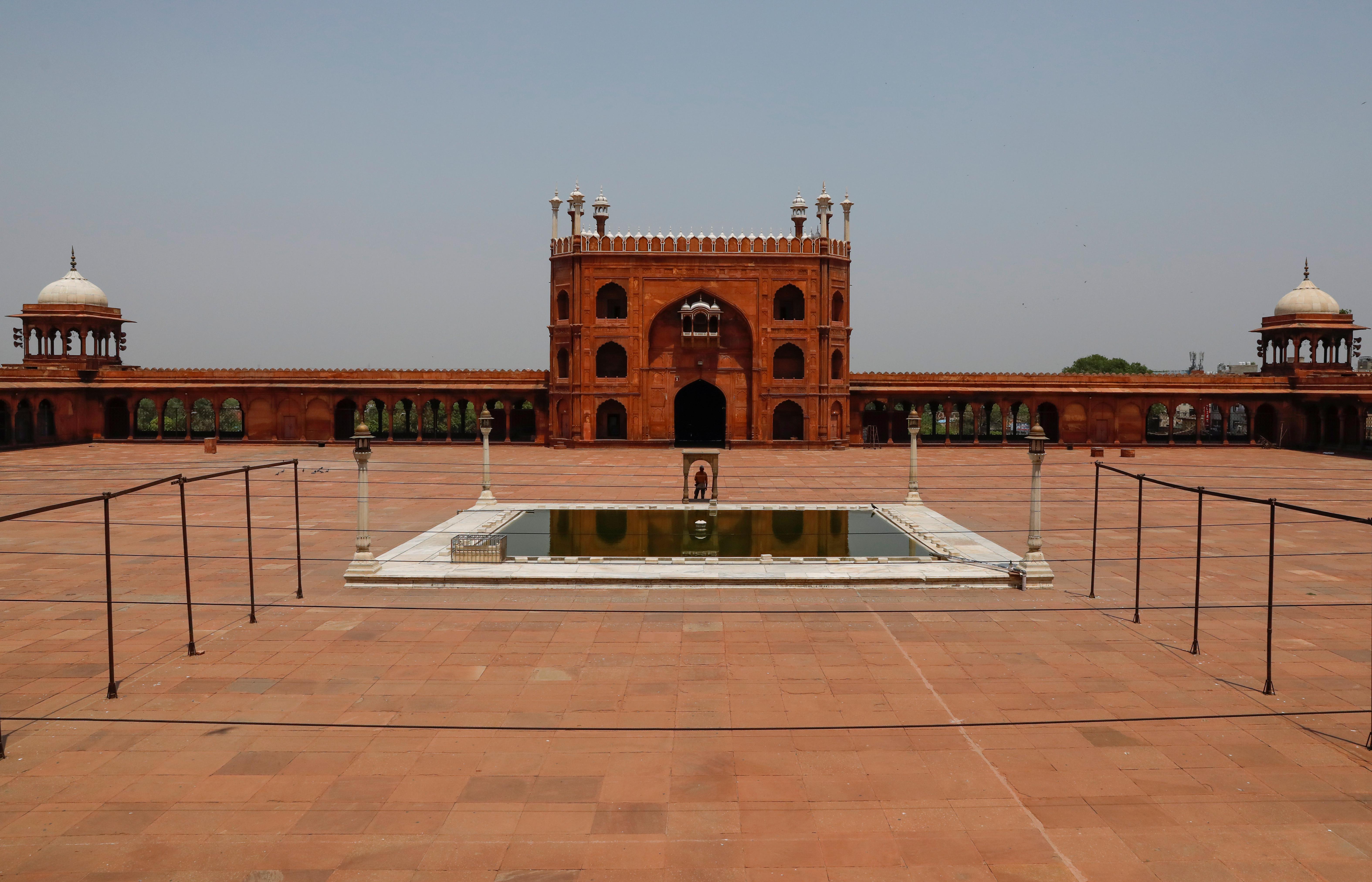 Vista general del Jama Masjid vacío, en Delhi, India (REUTERS/Anushree Fadnavis)