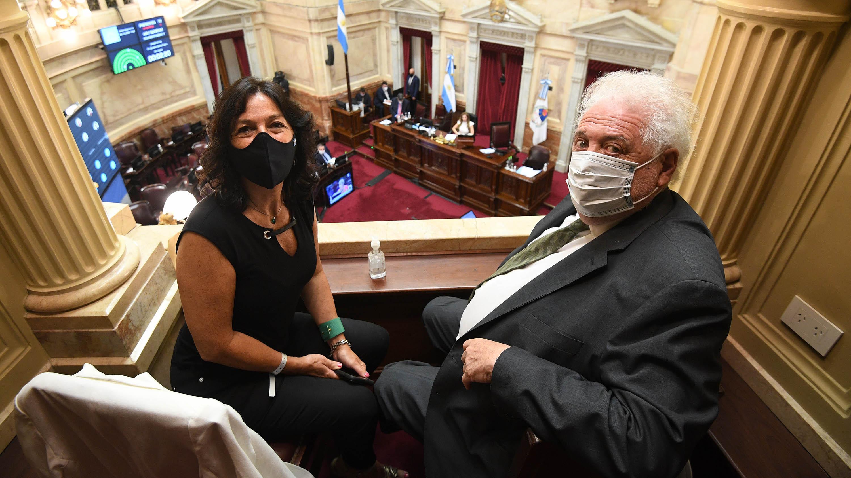 La secreteria Legal y Técnica, Vilma Ibarra, fue una de las principales impulsoras del proyecto. A su lado, el ministro de Salud, Ginés González García