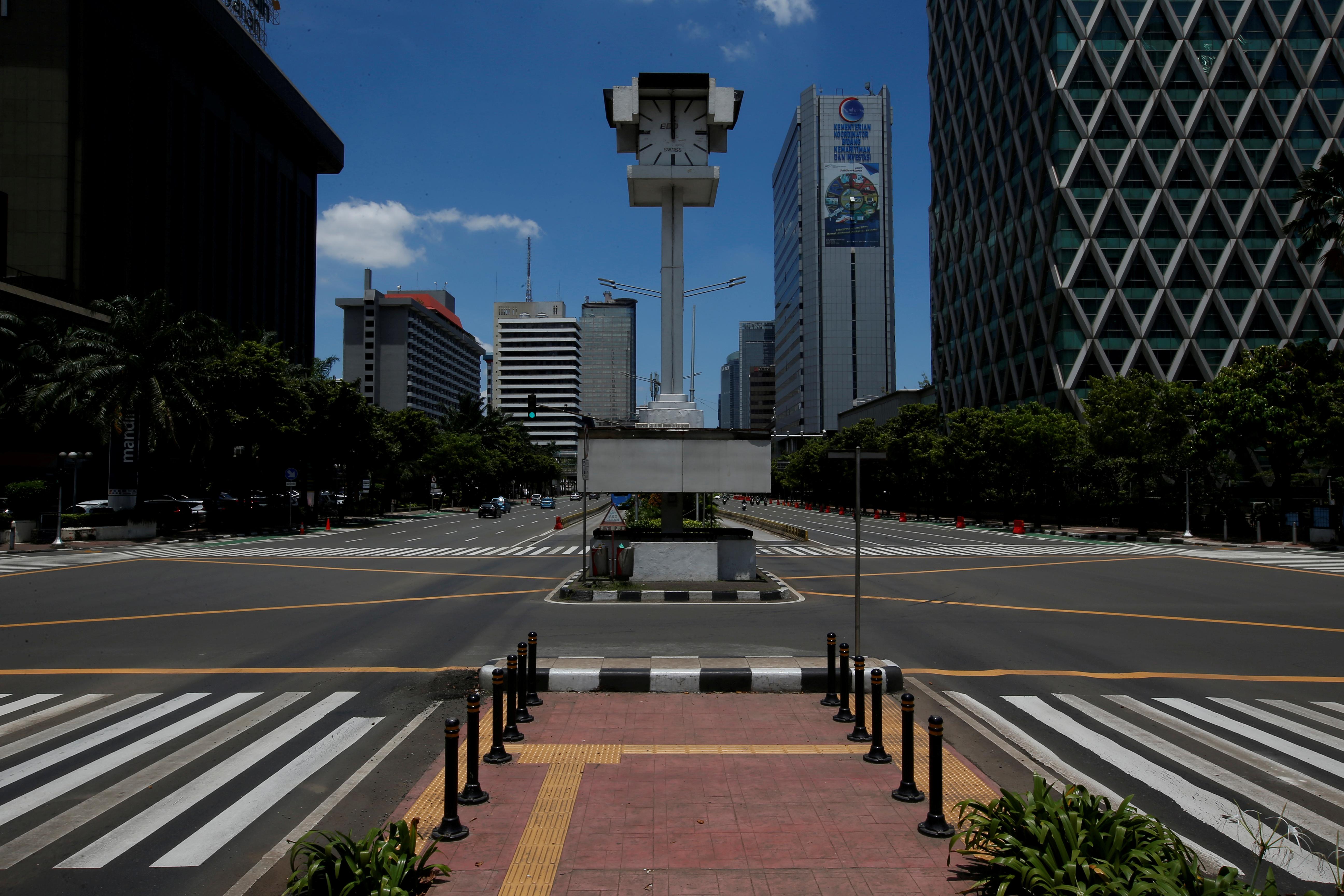 Poco tráfico en Jakarta, Indonesia (REUTERS/Willy Kurniawan/File Photo)