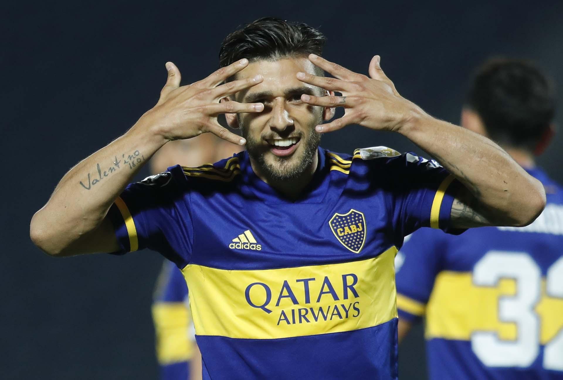 Así celebró el Toto Salvio el 1-0, en el amanecer del partido (REUTERS/Jorge Saenz)