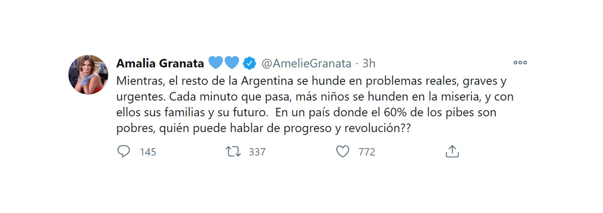 El descargo de Amalia Granata tras la legalización del aborto