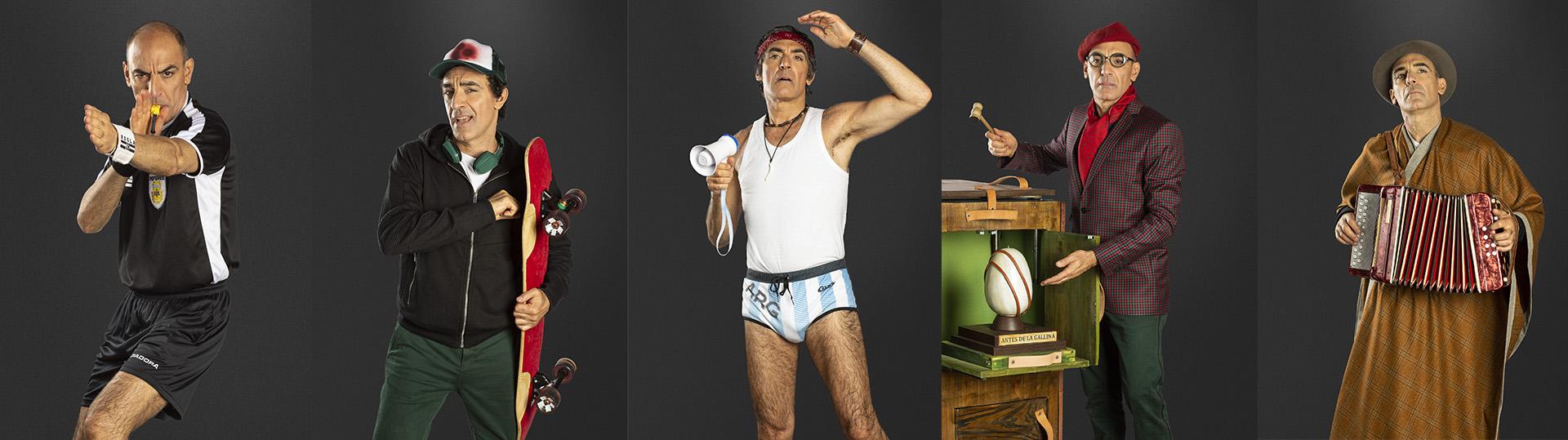 """Mauricio Dayub y sus 5 personajes en """"El equilibrista"""""""