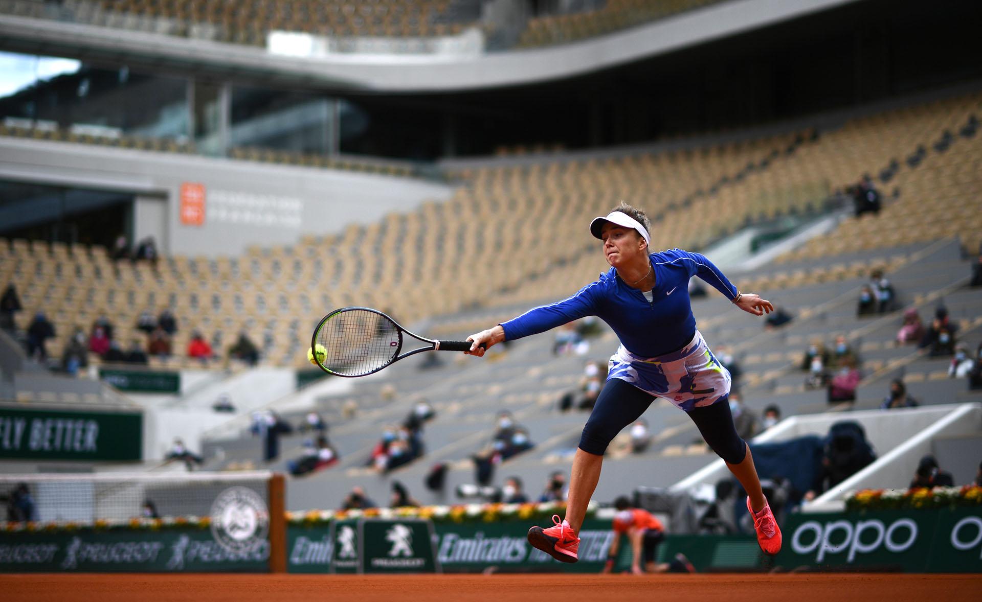 Postal de Svitolina en la Philippe-Chartier de Roland Garros (Photo by Martin BUREAU / AFP)