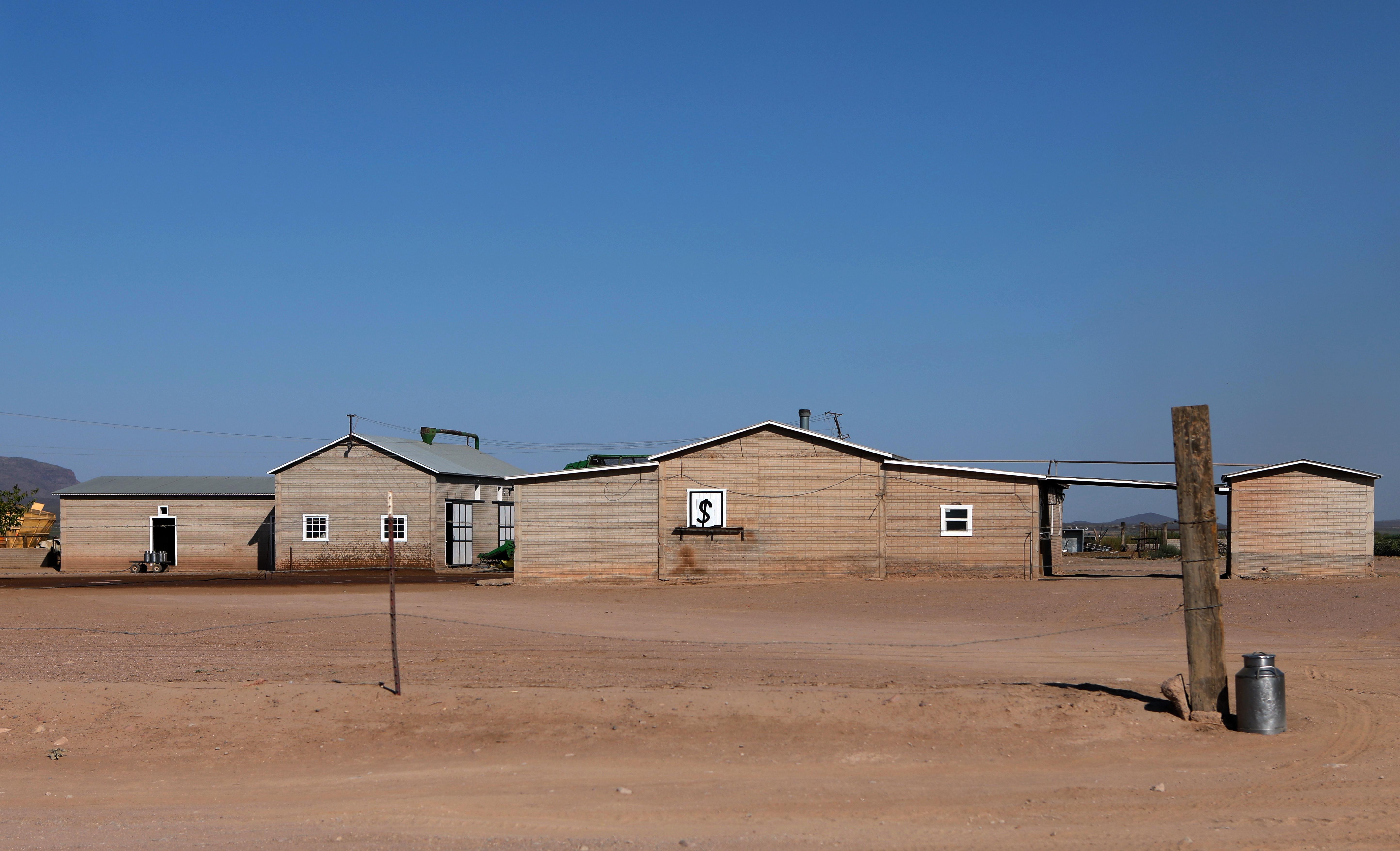 Se ve una casa en venta en una comunidad menonita en el municipio de Ascensión, estado de Chihuahua, México, el 26 de septiembre de 2020.
