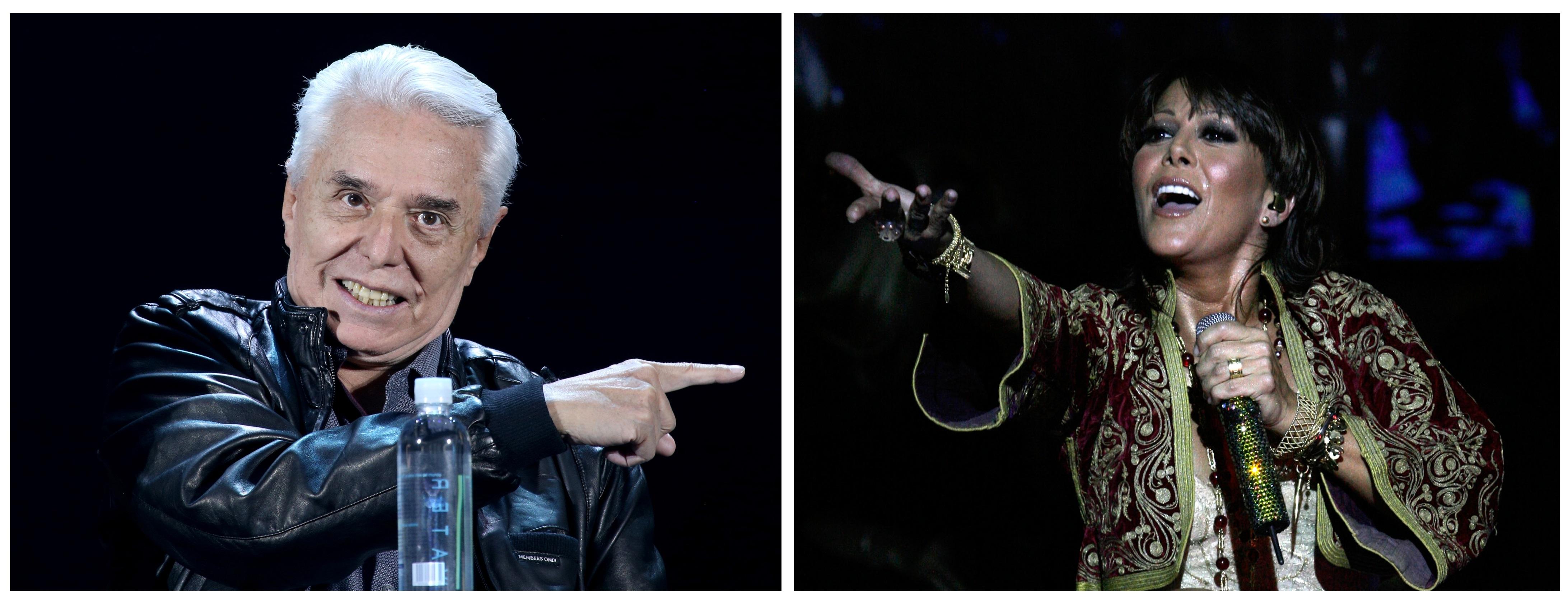 Combo de fotografías donde se muestra a los cantantes Enrique Guzmán (i), y su hija Alejandra Guzmán (d), durante distintos actos en Ciudad de México (México). EFE/ Photoamc/ SOLO USO EDITORIAL/ SOLO DISPONIBLE PARA ILUSTRAR LA NOTICIA QUE ACOMPAÑA (CRÉDITO OBLIGATORIO)