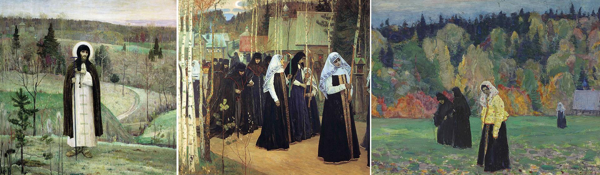 La estética de Nésterov en tres obras