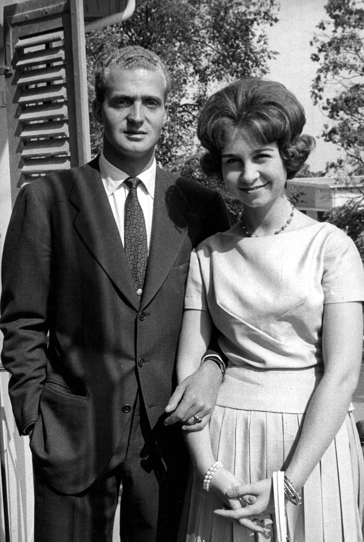 Juan carlos y la Reina Sofía en Lausanne, Suiza, en una foto sin fecha (Shutterstock)