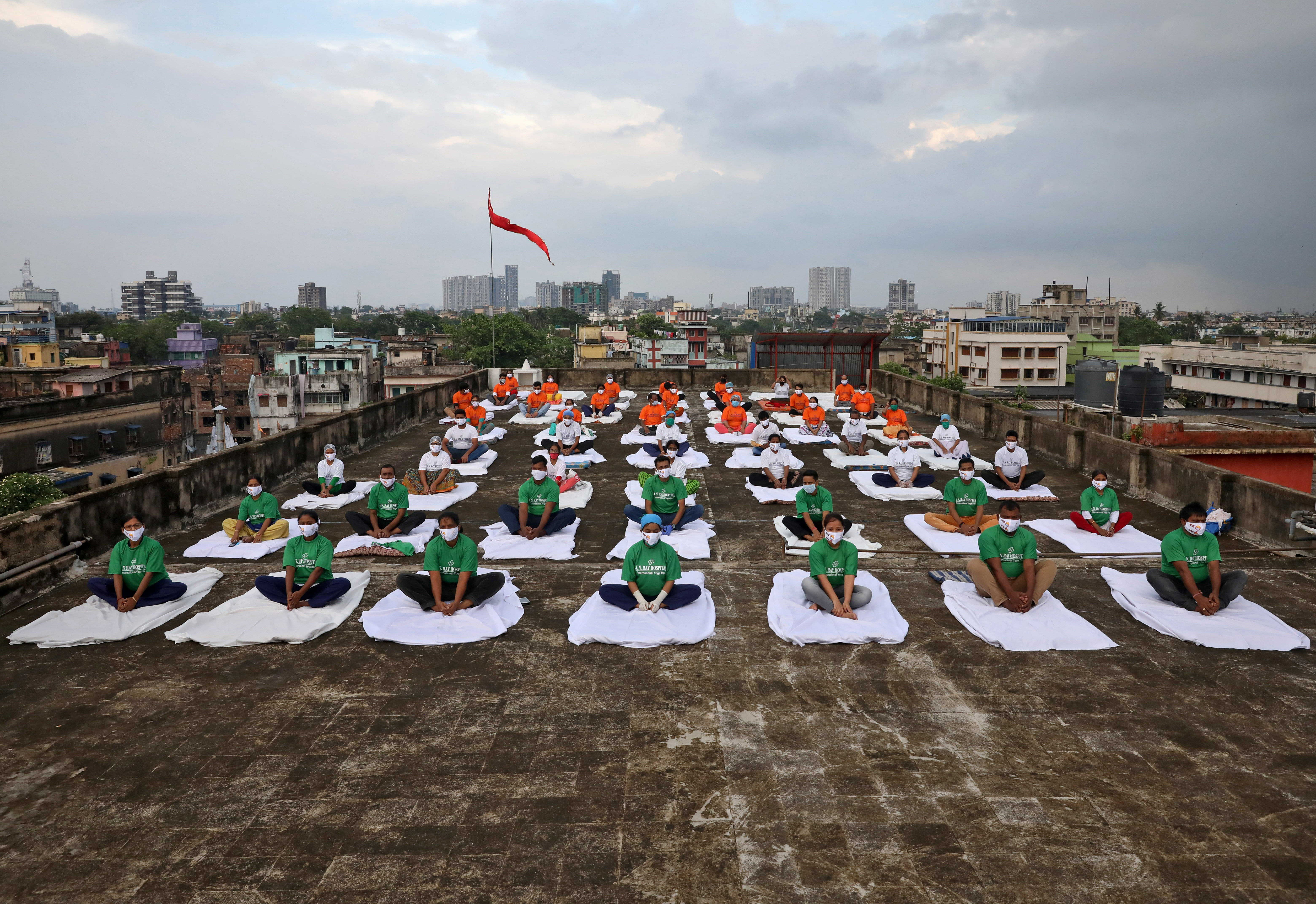 Personal de un hospital en Calcuta