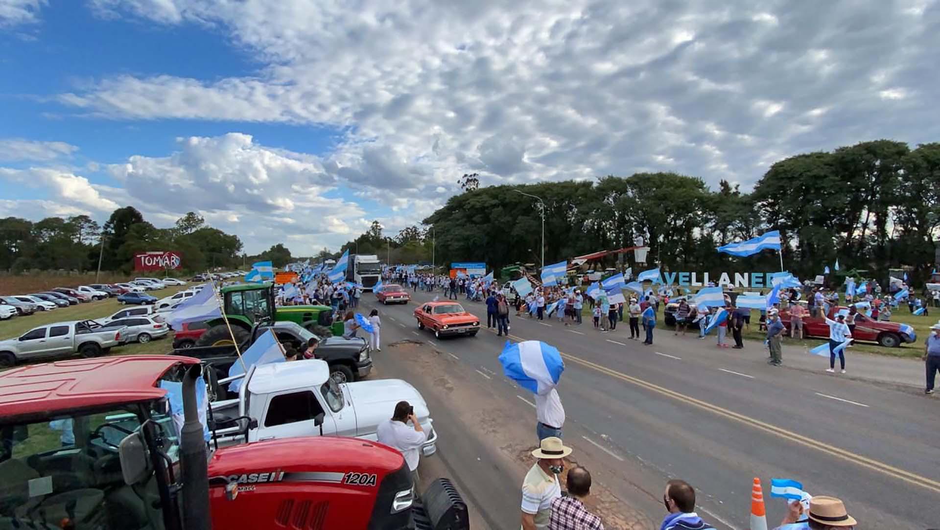 Masiva movilización y protesta contra el proyecto del Poder Ejecutivo para la expropiación de la empresa Vicentín