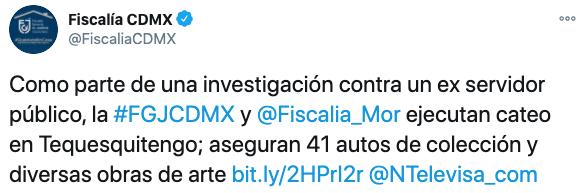 (Foto: Twitter/FiscaliaCDMX)