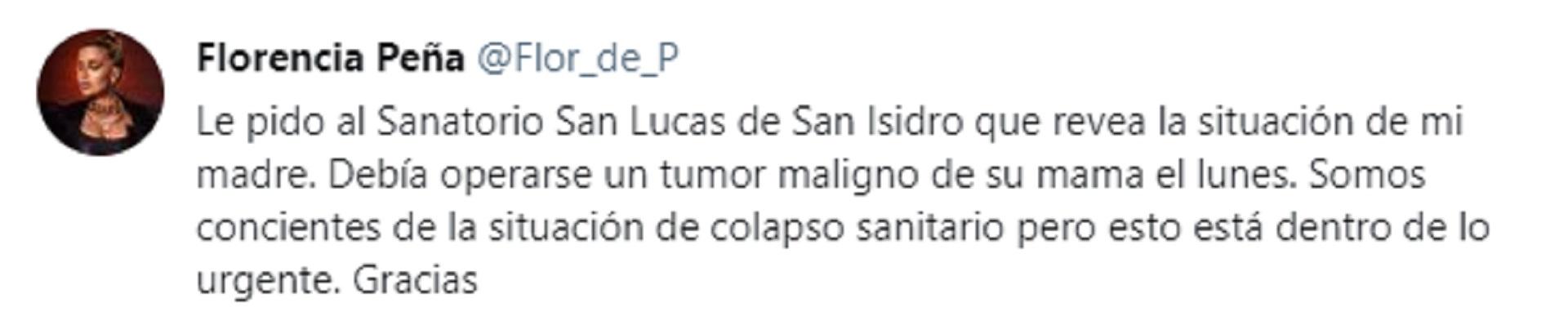 Los tuits de Florencia Peña