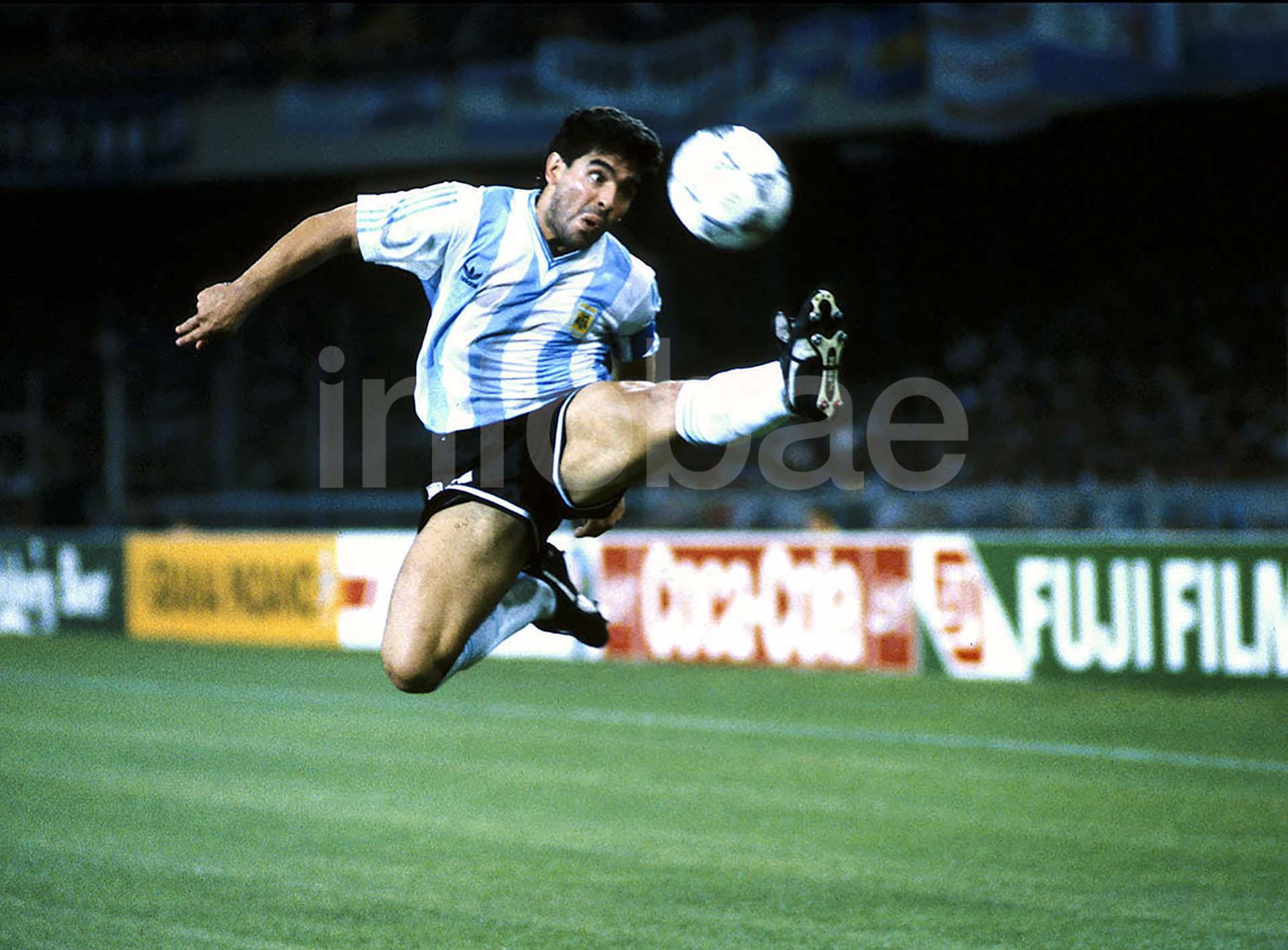 Diego Maradona fue una de las grandes figuras de Argentina en el Mundial de Italia 1990