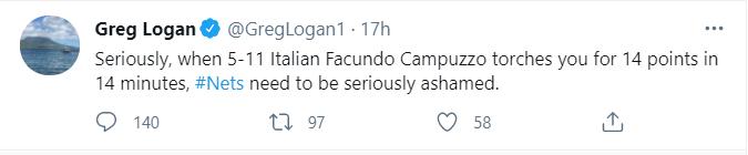El primer comentario de Logan, en el que indicó a la altura de Campazzo como algo determinante