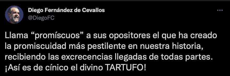 El Jefe Diego defendió a la oposición (Foto: Twitter/@DiegoFC)