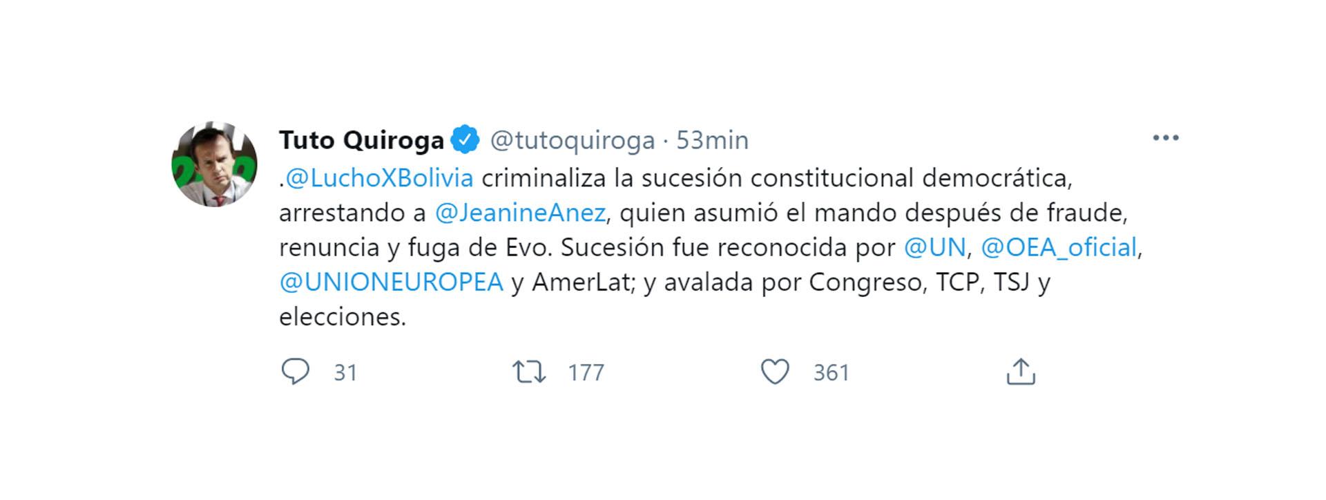 Crece el repudio en Bolivia ante la detención de la ex presidenta Jeanine Áñez | Noticias de Buenaventura, Colombia y el Mundo