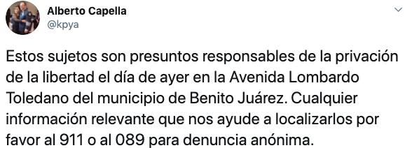 Alberto Capella, titular de la SSP Quintana Roo, informó sobre el secuestro de dos hombres en Cancún (Foto: Twitter/kpya)